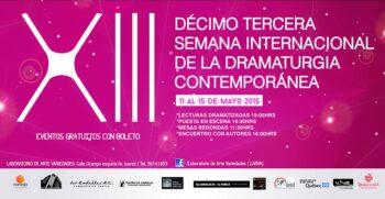 40. XIII Semana Internacional de la Dramaturgia Contemporánea