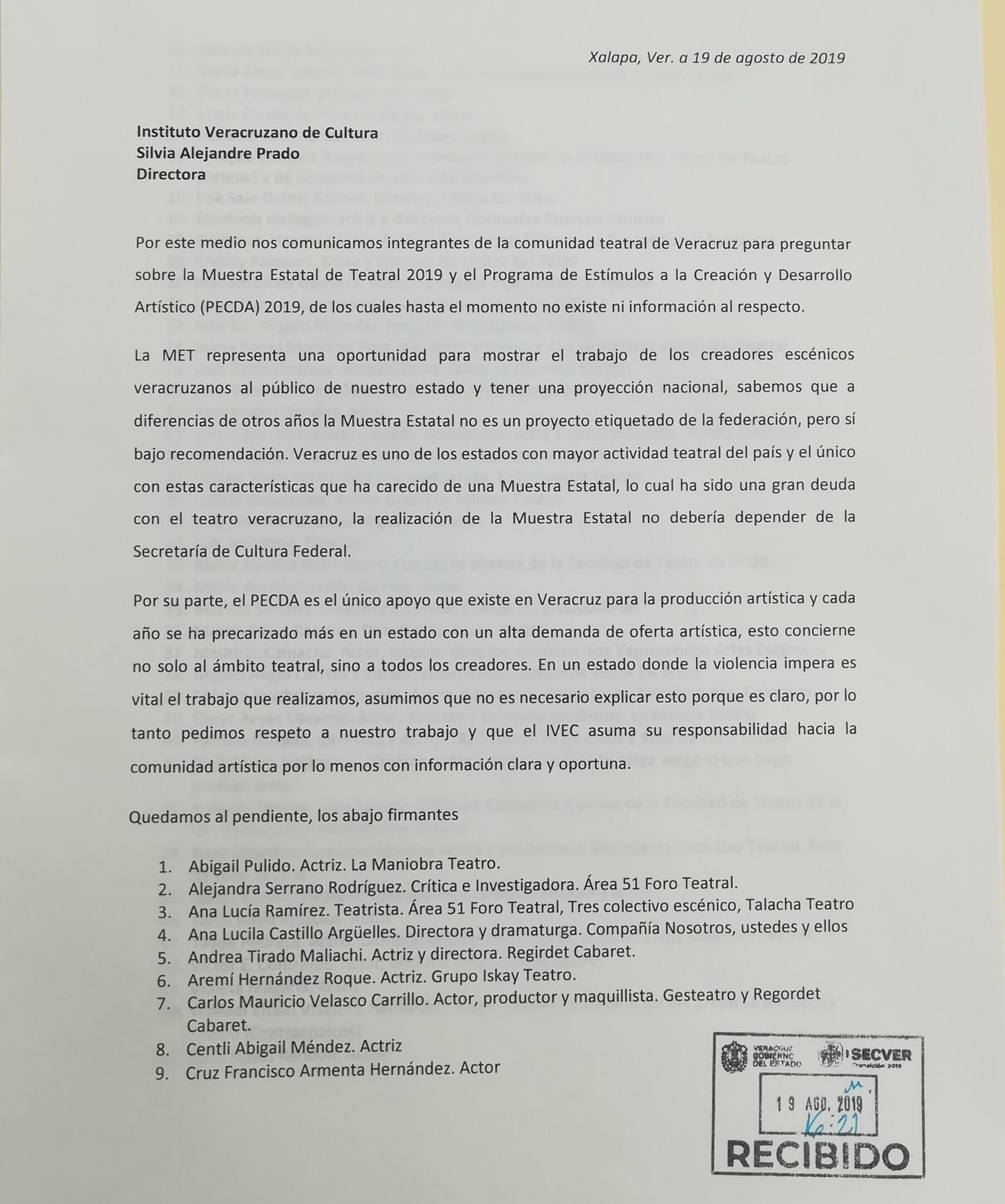 Piden información sobre la MET y el PECDA en Veracruz