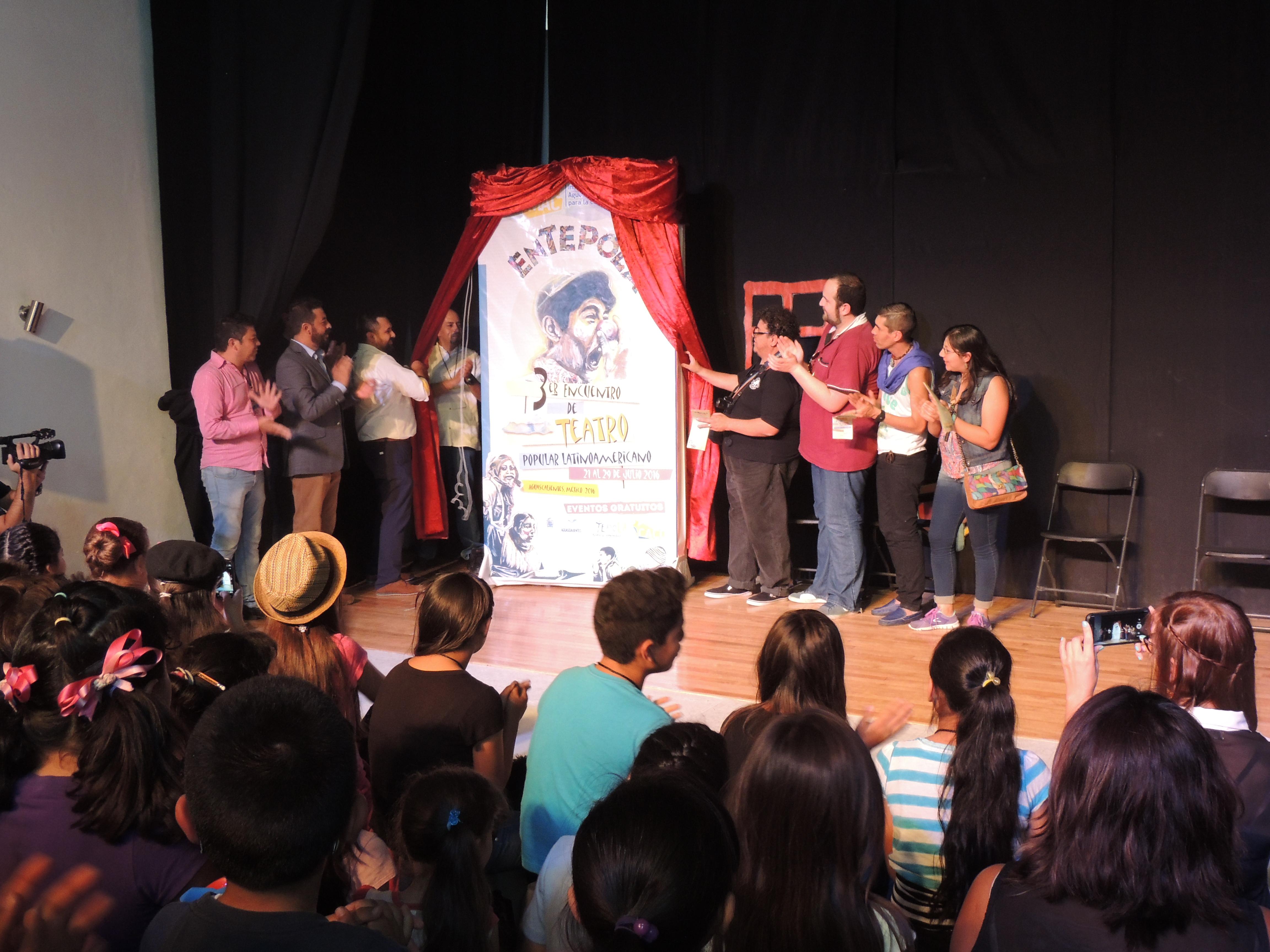 Inauguración de la tercera emisión del Encuentro de Teatro Popular Latinoamericano 2016